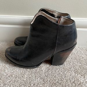 Freebird DETRT Distressed Ankle Boots Black Size 6